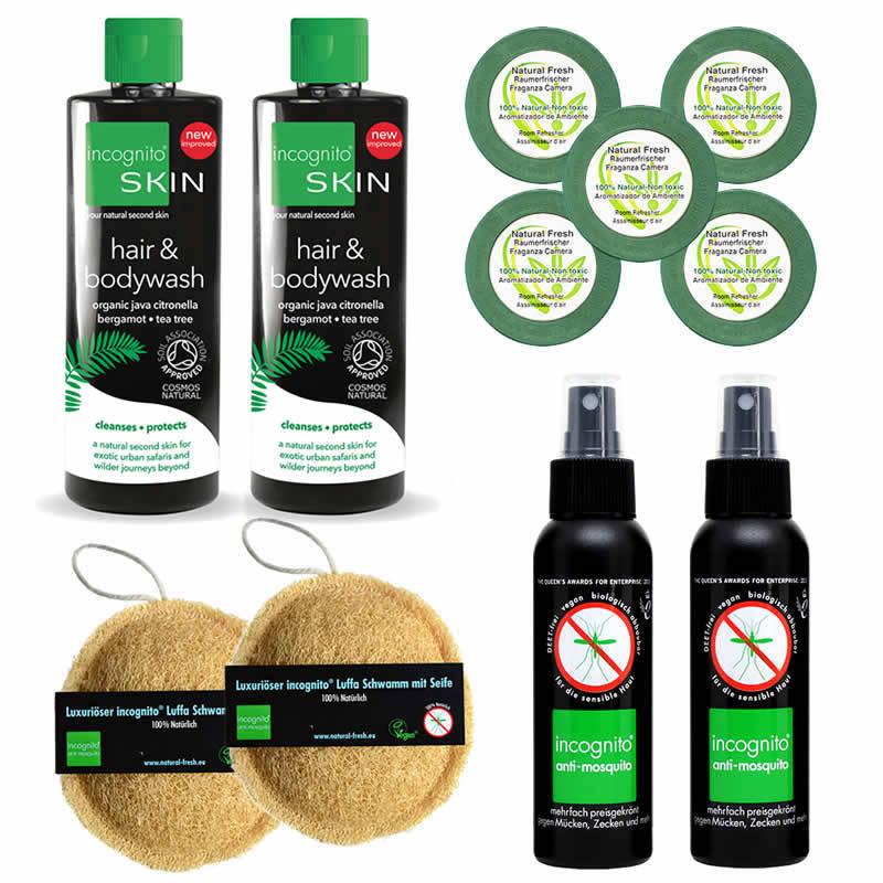 Family-Pack, 5x NF + 2x incognito + 2x Shampoo & Duschgel + 2x Loofah